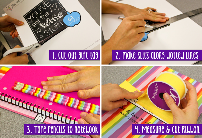 Back to School Gift Craft Steps