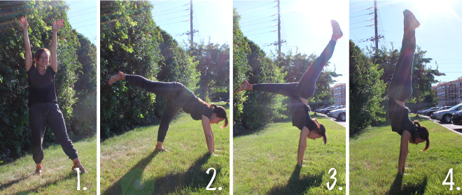 Step by Step Handstand Instructions