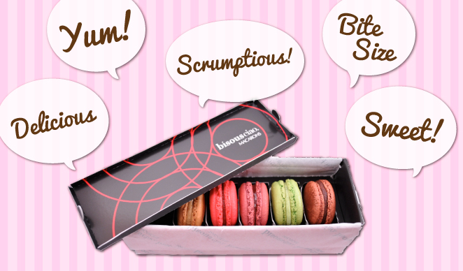 Macarons are a tasty treat