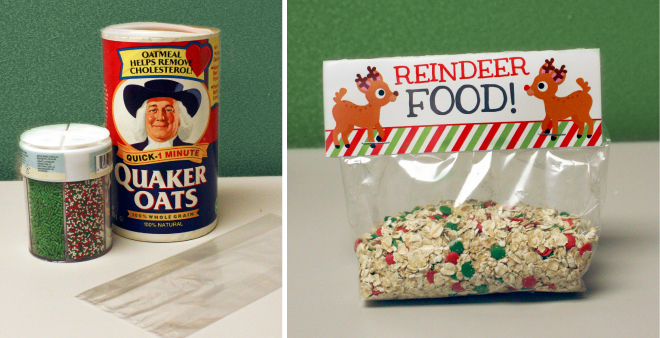 Reindeer food free printable labels