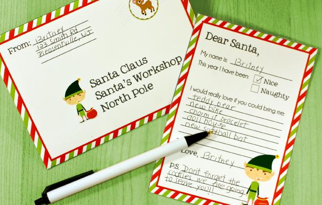 Free Letter to Santa Printable on www.thecharmitspot.com