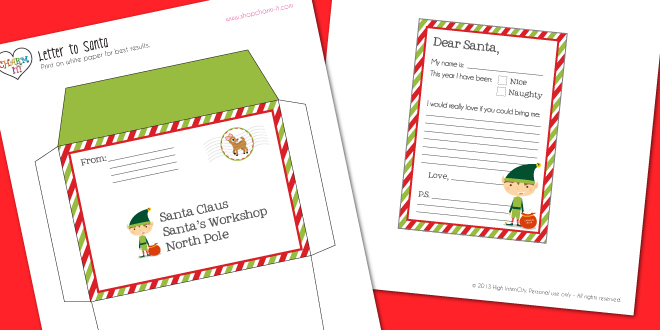Printable Envelope From North Pole | New Calendar Template Site