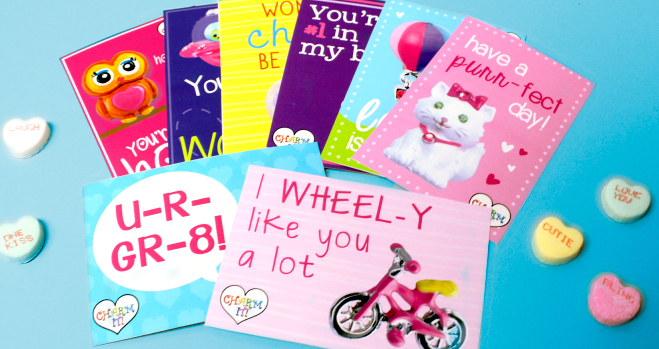 CHARM IT! free printable Valentine's Day Cards