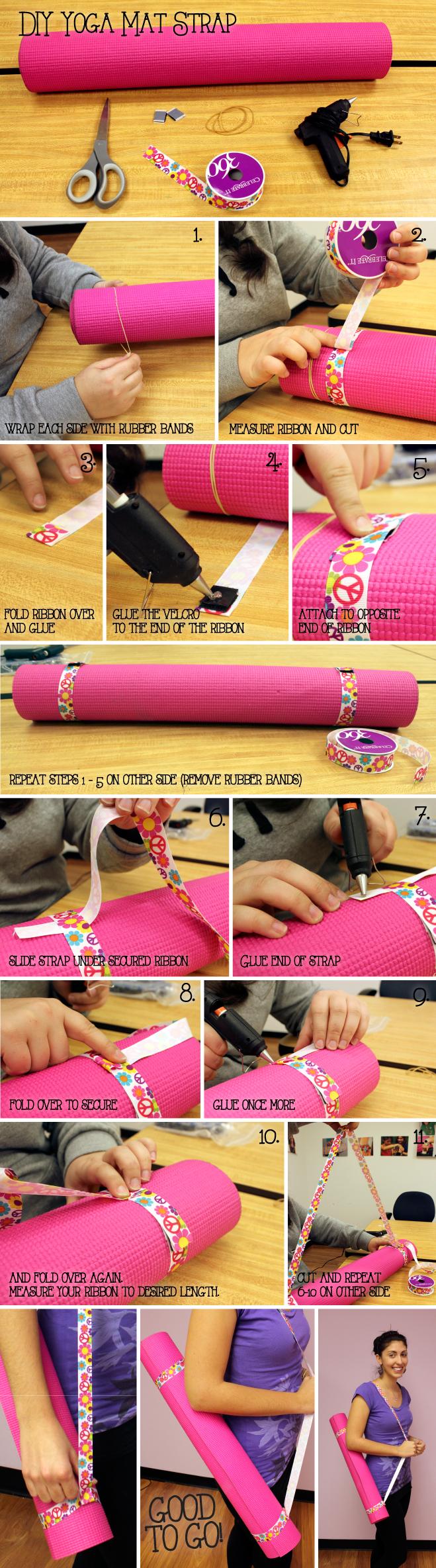 DIY Yoga mat strap