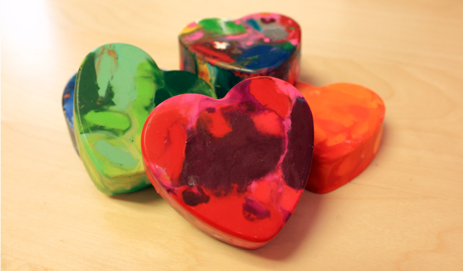 DIY Crayon Hearts
