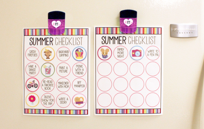 Summer Checklist for kids