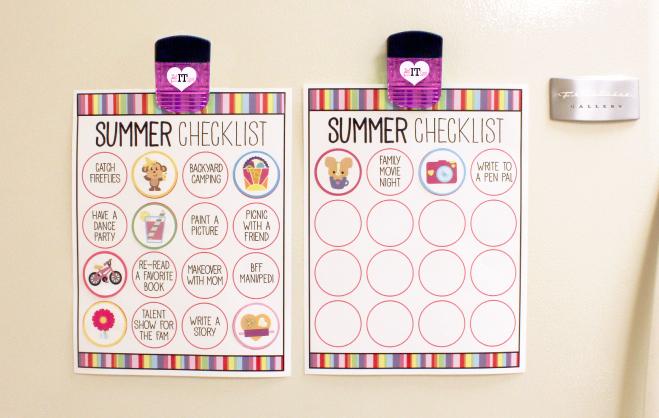 Summer Checklist for kids