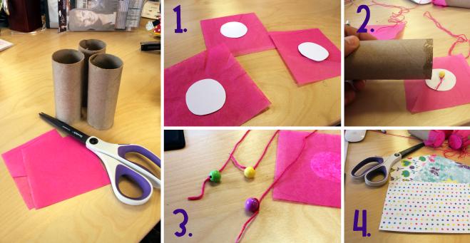 DIY Confetti Popper materials