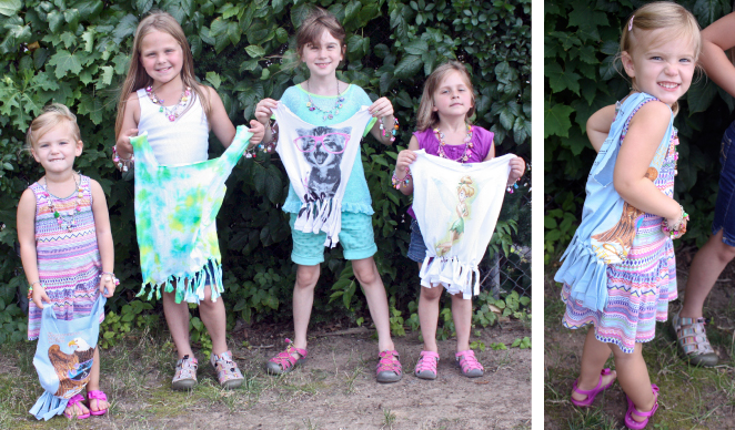 DIY t-shirt tote bag craft for girls