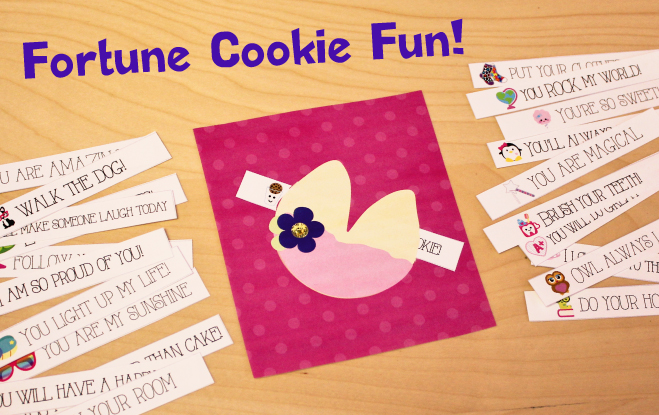 Free Printable Fortune Cookie Notes for Kids
