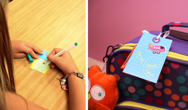 DIY Luggage tags for girls