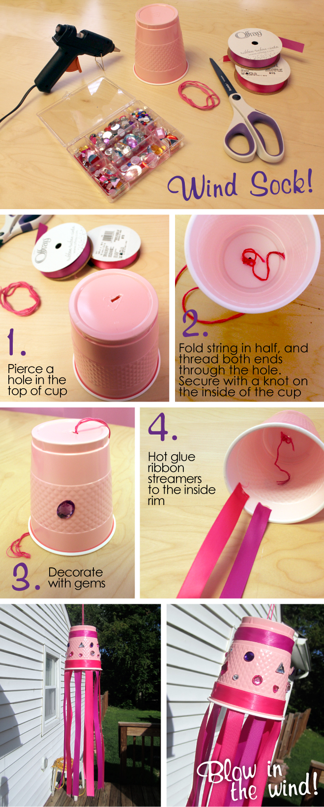 Windsock Craft for girls