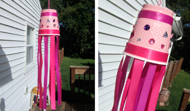 DIY Windsock craft for girls