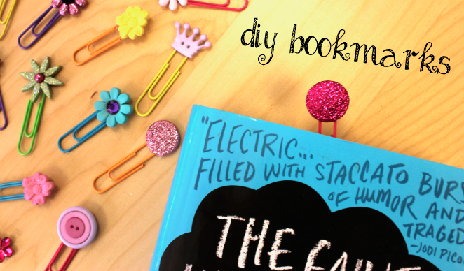 DIY Bookmark and homemade gift for girls