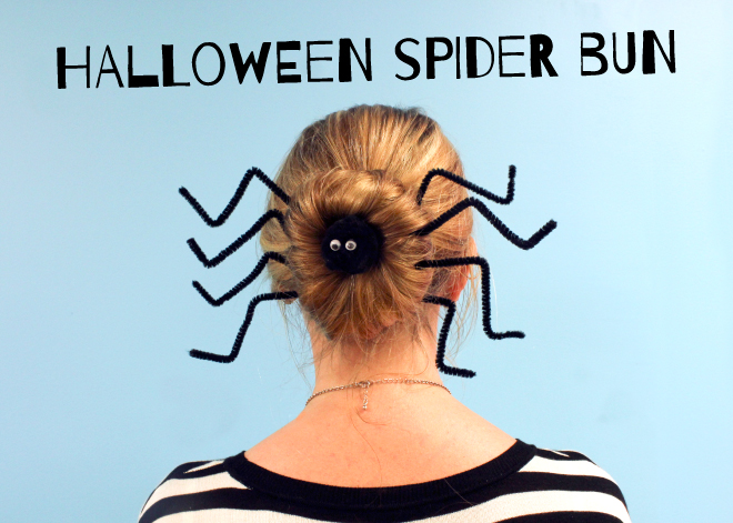 Halloween spider hair tutorial