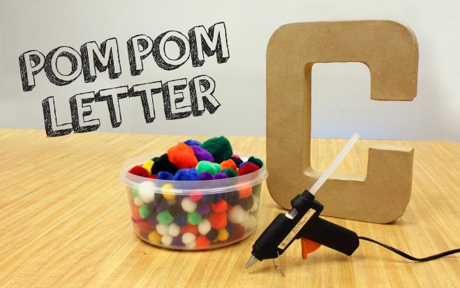 Pom Pom Letter DIY