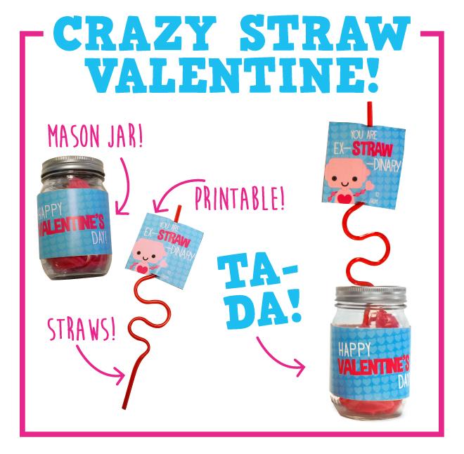 DIY Crazy Straw Valentine
