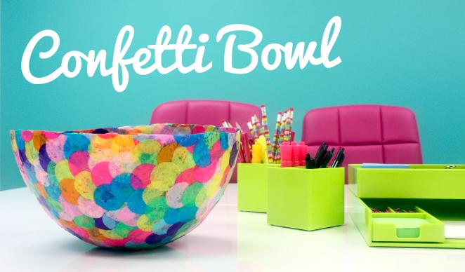 DIY Confetti Bowl